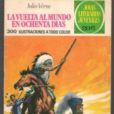 Tebeos: JOYAS LITERARIAS JUVENILES. Nº 17. LA VUELTA AL MUNDO EN OCHENTA DÍAS. BRUGUERA, 3ª. 1974.(P/B3). Lote 198407746