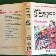 Tebeos: HISTORIAS SELECCIÓN - SAN FRANCISCO ASÍS - SERIE HISTORIA Y BIOGRAFÍA Nº 15 - 1/67 - MUY BUENO. Lote 198665666