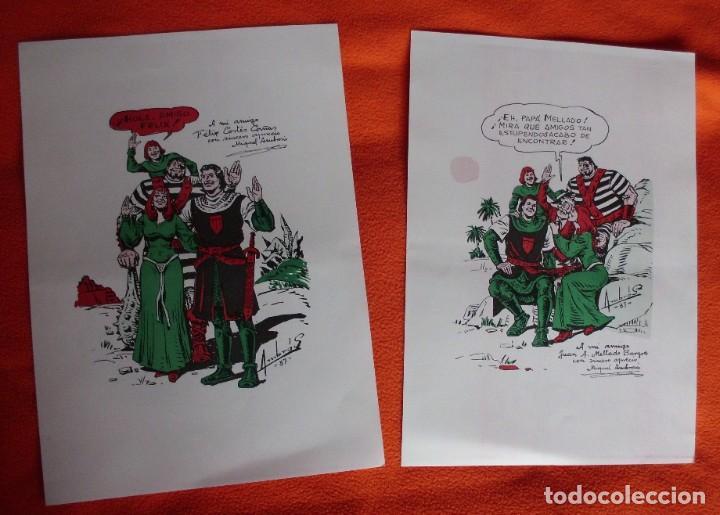 2 POSTERS EL CAPITAN TRUENO A DOBLE CARA(CLUB VALLISOLETANO DE AMIGOS) MEDIDAS 34X24 (Tebeos y Comics - Bruguera - Capitán Trueno)
