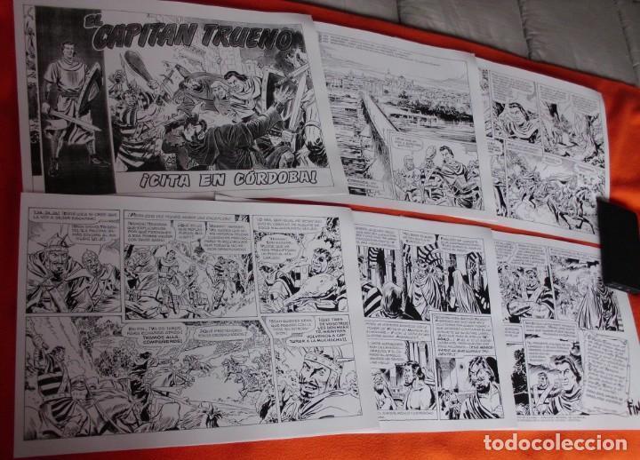 11 LAMINAS EL CAPITÁN TRUENO CITA EN CORDOBA TAMAÑO 42X30 (VER FOTOGRAFIAS) (Tebeos y Comics - Bruguera - Capitán Trueno)
