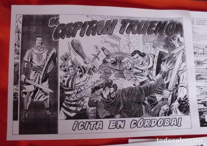Tebeos: 11 LAMINAS EL CAPITÁN TRUENO CITA EN CORDOBA TAMAÑO 42X30 (VER FOTOGRAFIAS) - Foto 2 - 198780650