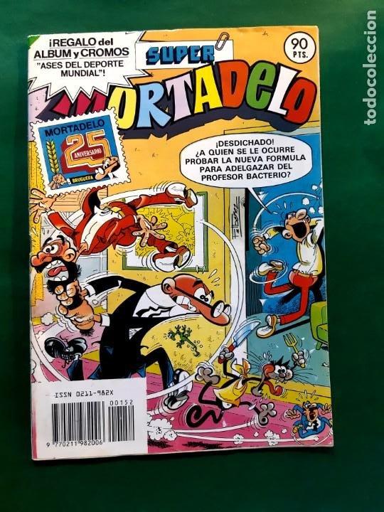 SUPER MORTADELO Nº 152 CON LOS CROMOS ASES DEPORTE MUNDIAL VER FOTOS (Tebeos y Comics - Bruguera - Mortadelo)