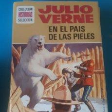 Tebeos: JULIO VERNE, EN EL PAIS DE LOS PIELES ROJAS, EDICION ILUSTRADA. HISTORIAS SELECCION, BRUGUERA. Lote 199388203