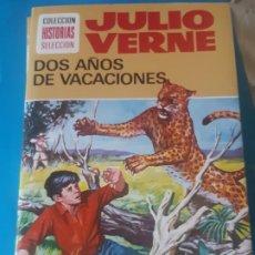 Tebeos: JULIO VERNE, DOS AÑOS DE VACACIONES, EDICION ILUSTRADA. HISTORIAS SELECCION, BRUGUERA. Lote 199388322