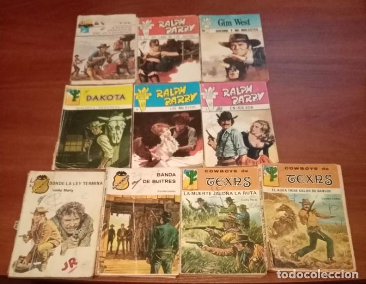 LOTE DE 10 BOLSILIBROS, RANGERS, TEXAS, DAKOTA, SALOON OESTE LOTE 53 (Tebeos y Comics - Bruguera - Otros)