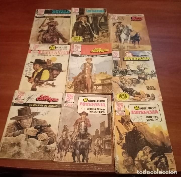 LOTE DE 16 BOLSILIBROS, ESTEFANIA, ASES DEL OESTE, BUFALO AZUL, ETC, VARIAS COLECCIONES , LOTE 60 (Tebeos y Comics - Bruguera - Otros)