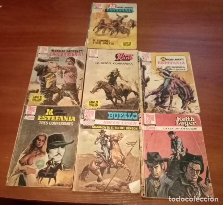 Tebeos: LOTE de 16 bolsilibros, estefania, ases del oeste, bufalo azul, etc, varias colecciones , lote 60 - Foto 2 - 199474236