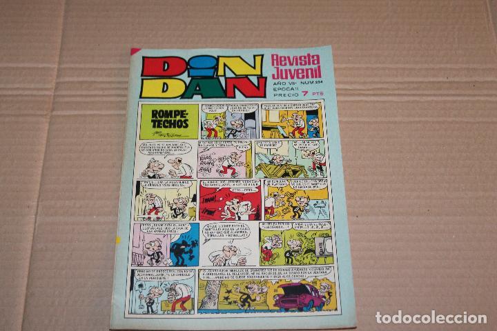 DIN DAN Nº 254, LLEVA PUBLICIDAD MUÑECA MARUJITA DE FAMOSA, EDITORIAL BRUGUERA (Tebeos y Comics - Bruguera - Din Dan)