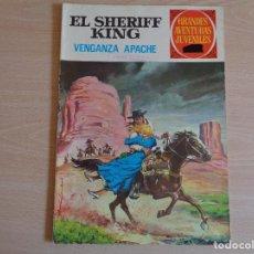 Tebeos: EL SHERIFF KING Nº 12. VENGANZA APACHE. BRUGUERA 1971. BUEN ESTADO. Lote 200352706