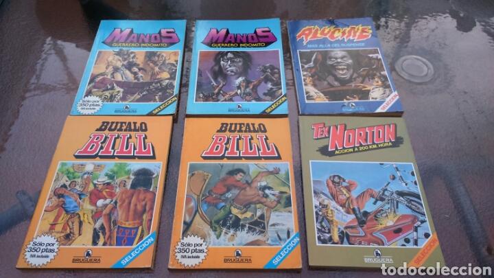 SELECCIÓN BRUGUERA LOTE DE 6 TOMOS (MANOS, BUFALO BILL, ALUCINE Y REX NORTON) (Tebeos y Comics - Bruguera - Historias Selección)