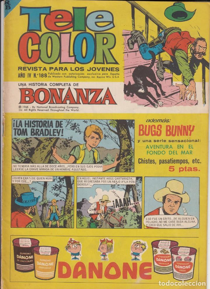 TELE COLOR AÑO IV NUM. 188 --SOLICITE LOS NÚMEROS QUE LE FALTEN - (Tebeos y Comics - Bruguera - Tele Color)