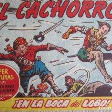 Tebeos: EL CACHORRO Nº 202, EN LA BOCA DEL LOBO. IRANZO. EDITORIAL BRUGUERA, ORIGINAL 1959. Lote 201133378