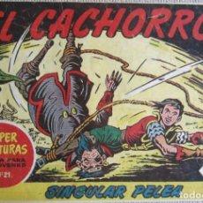 Tebeos: EL CACHORRO Nº 165, SINGULAR PELEA. IRANZO. EDITORIAL BRUGUERA, ORIGINAL 1958. Lote 201141542