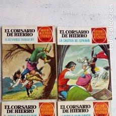 Tebeos: EL CORSARIO DE HIERRO 1ª DE 15 PTS. NºS 17,25,33,37 BRUGUERA 1972. Lote 201287715