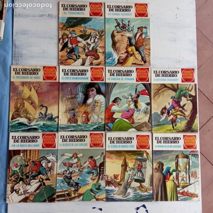 Tebeos: EL CORSARIO DE HIERRO 1ª EDICIÓN DE 15 PTS - 7,9,11,17,19,25,33,37,49,57 - BRUGUERA 1972 - Foto 2 - 201288631