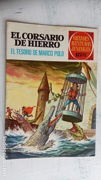 Tebeos: EL CORSARIO DE HIERRO 1ª EDICIÓN DE 15 PTS - 7,9,11,17,19,25,33,37,49,57 - BRUGUERA 1972 - Foto 6 - 201288631