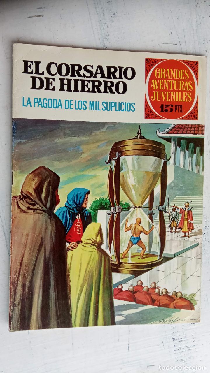 Tebeos: EL CORSARIO DE HIERRO 1ª EDICIÓN DE 15 PTS - 7,9,11,17,19,25,33,37,49,57 - BRUGUERA 1972 - Foto 7 - 201288631