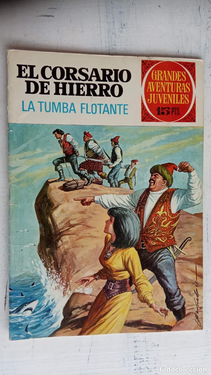 Tebeos: EL CORSARIO DE HIERRO 1ª EDICIÓN DE 15 PTS - 7,9,11,17,19,25,33,37,49,57 - BRUGUERA 1972 - Foto 12 - 201288631