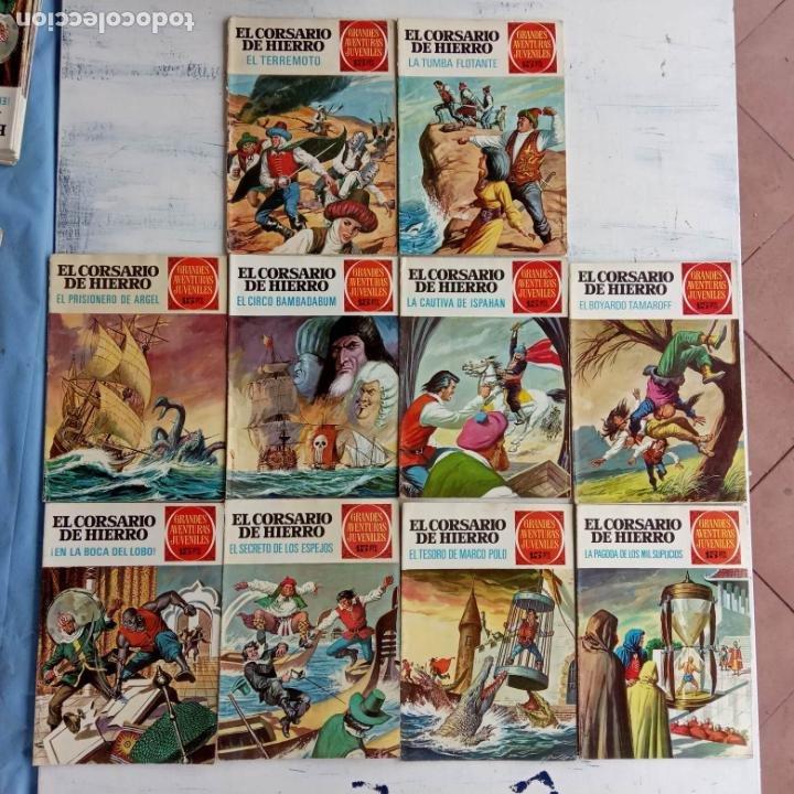EL CORSARIO DE HIERRO 1ª EDICIÓN DE 15 PTS - 7,9,11,17,19,25,33,37,49,57 - BRUGUERA 1972 (Tebeos y Comics - Bruguera - Corsario de Hierro)