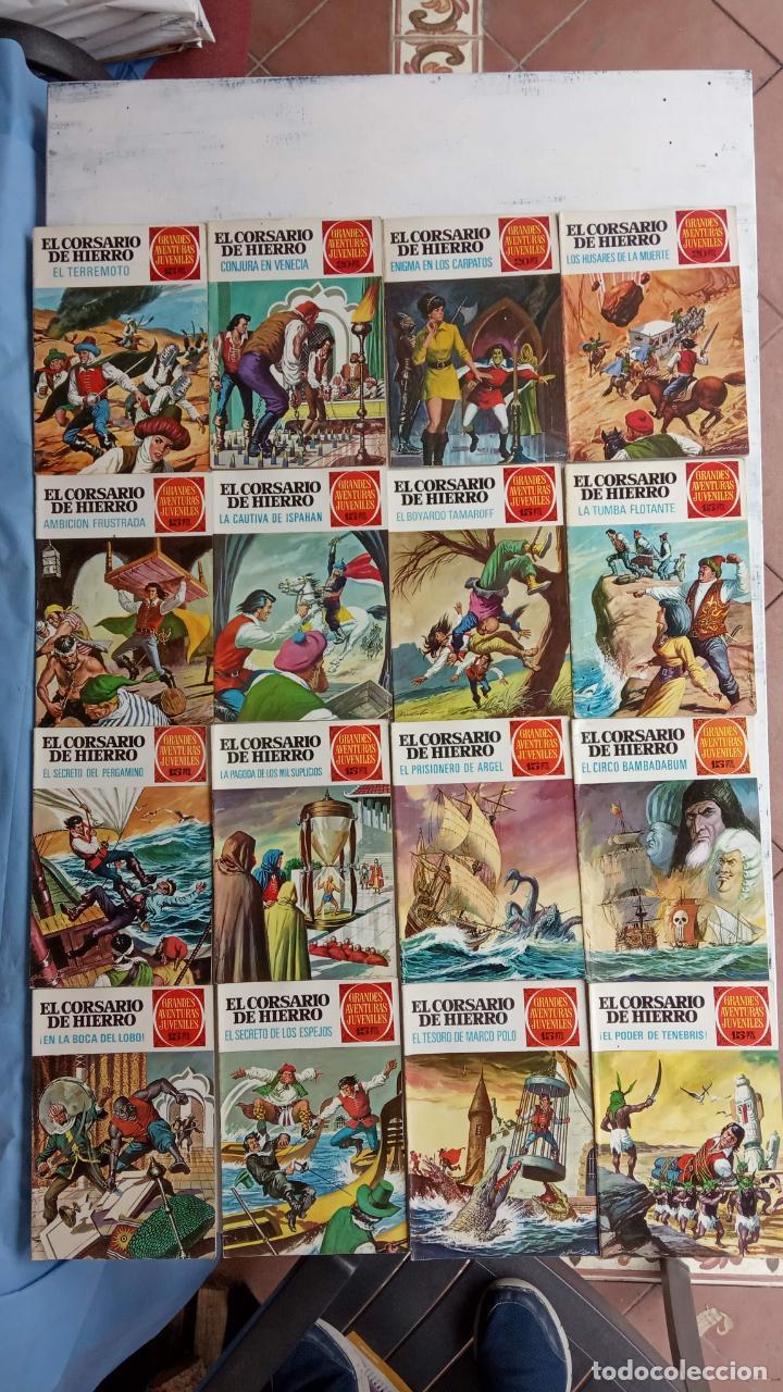Tebeos: EL CORSARIO DE HIERRO 1ª EDICIÓN 15 PTS. 72,69,65,57,49,37,33,29,25,19,17,15,13,11,9,7,1972 BRUGUERA - Foto 3 - 201289648