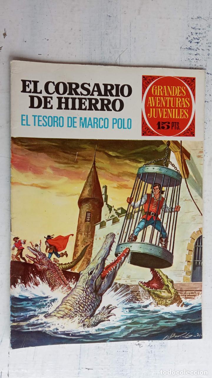 Tebeos: EL CORSARIO DE HIERRO 1ª EDICIÓN 15 PTS. 72,69,65,57,49,37,33,29,25,19,17,15,13,11,9,7,1972 BRUGUERA - Foto 44 - 201289648