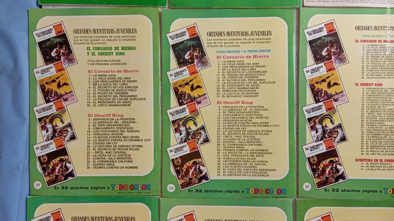 Tebeos: EL CORSARIO DE HIERRO 1ª EDICIÓN 15 PTS. 72,69,65,57,49,37,33,29,25,19,17,15,13,11,9,7,1972 BRUGUERA - Foto 49 - 201289648