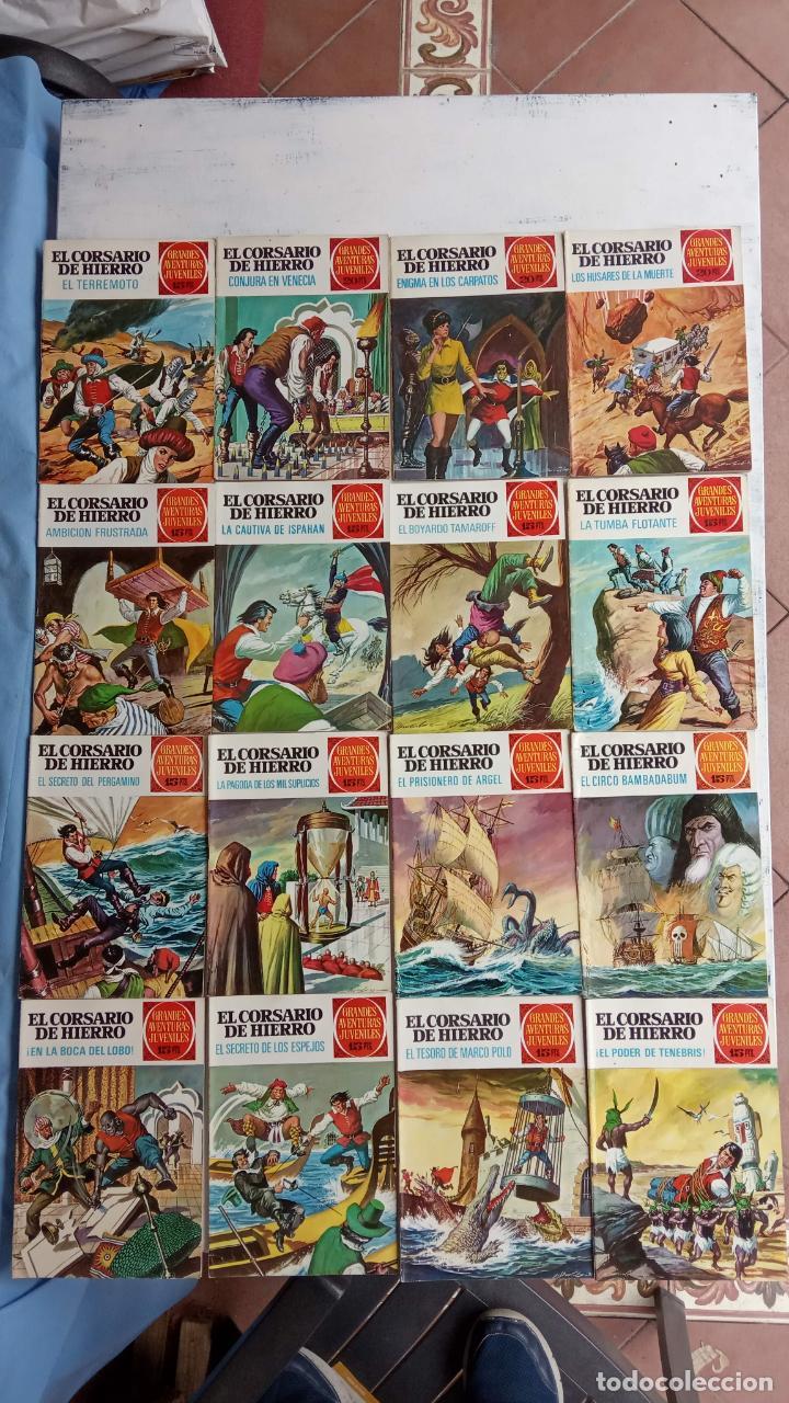 EL CORSARIO DE HIERRO 1ª EDICIÓN 15 PTS. 72,69,65,57,49,37,33,29,25,19,17,15,13,11,9,7,1972 BRUGUERA (Tebeos y Comics - Bruguera - Corsario de Hierro)