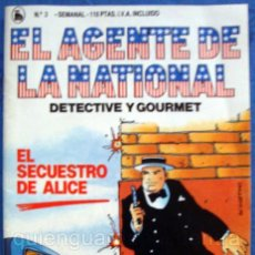 Tebeos: EL AGENTE DE LA NATIONAL 3-SEMANARIO DE BRUGUERA NOVELADO CON VIÑETAS NUEVO 1986. Lote 201587687
