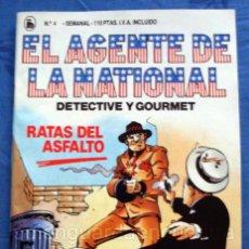 Tebeos: EL AGENTE DE LA NATIONAL 4-SEMANARIO DE BRUGUERA NOVELADO CON VIÑETAS NUEVO 1986. Lote 201587735