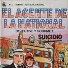 Tebeos: EL AGENTE DE LA NATIONAL 5-SEMANARIO DE BRUGUERA NOVELADO CON VIÑETAS NUEVO 1986. Lote 201587778