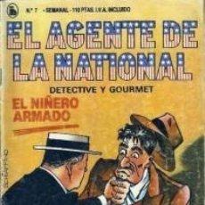 Tebeos: EL AGENTE DE LA NATIONAL 7-SEMANARIO DE BRUGUERA NOVELADO CON VIÑETAS NUEVO 1986. Lote 201587872