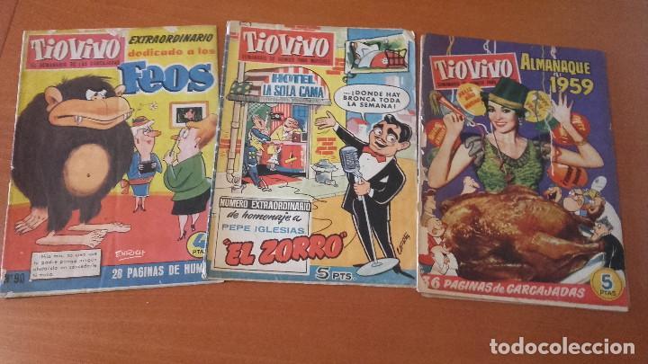 TIO VIVO CRISOL / EDITORIAL BRUGUERA LOTE 3 EXTRAS ALMANAQUES (Tebeos y Comics - Bruguera - Tio Vivo)