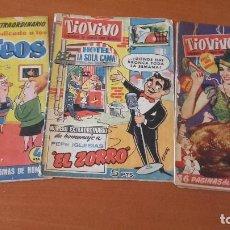 Tebeos: TIO VIVO CRISOL / EDITORIAL BRUGUERA LOTE 3 EXTRAS ALMANAQUES. Lote 201711680