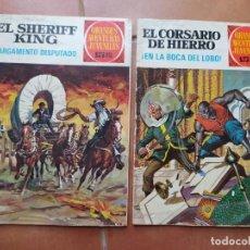Tebeos: COMICS EL CORSARIO DE HIERRO Y EL SHERIFF KING. Lote 201896663