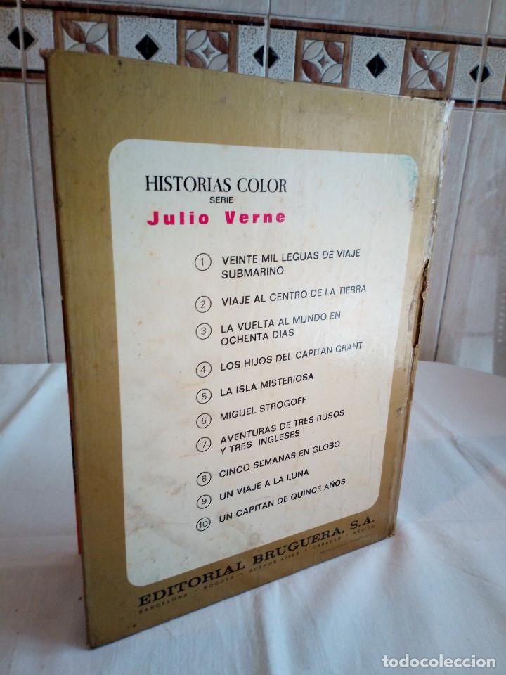 Tebeos: 17-UN VIAJE A LA LUNA, Julio Verne, historias color, bruguera 1972 - Foto 2 - 202546670