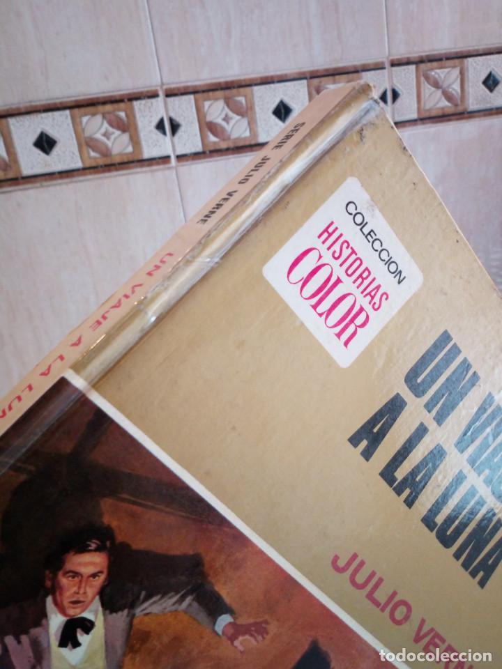 Tebeos: 17-UN VIAJE A LA LUNA, Julio Verne, historias color, bruguera 1972 - Foto 3 - 202546670