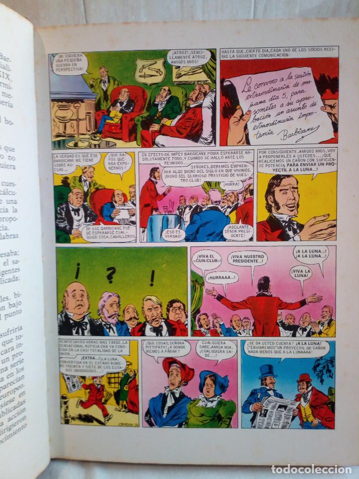 Tebeos: 17-UN VIAJE A LA LUNA, Julio Verne, historias color, bruguera 1972 - Foto 7 - 202546670