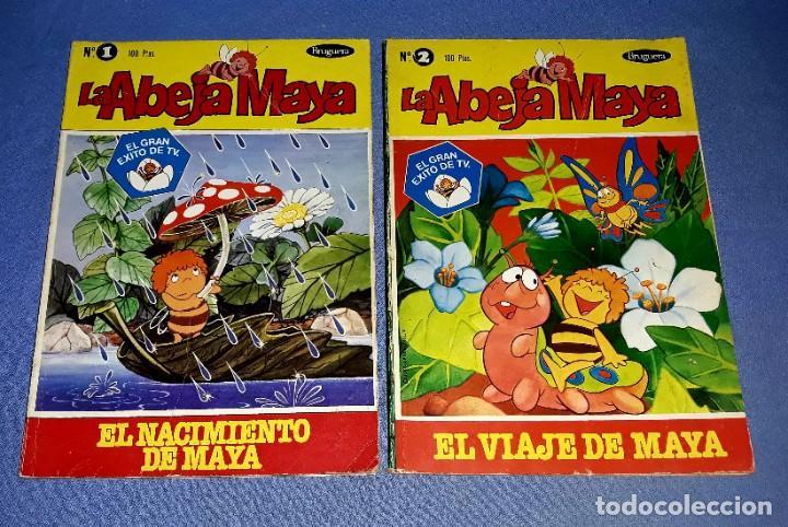 Tebeos: LOTE DE 5 TOMOS DE LA ABEJA MAYA AÑOS 70 ORIGINALES EDITORIAL BRUGUERA - Foto 2 - 202704183