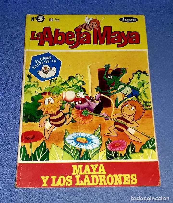 Tebeos: LOTE DE 5 TOMOS DE LA ABEJA MAYA AÑOS 70 ORIGINALES EDITORIAL BRUGUERA - Foto 4 - 202704183