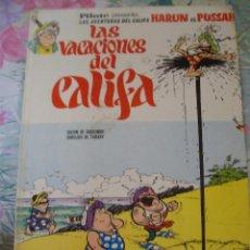 Tebeos: LAS VACACIONES DEL CALIFA PILOTE AVENTURAS DEL CALIFA HARUN EL PUSSAH BRUGUERA GOSCINNY TABARY. Lote 203272671