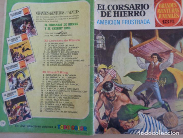 Tebeos: Joyas Literarias Juveniles. Serie Roja Nº 29. El corsario de hierro. Bruguera 1977 - Foto 2 - 203288322