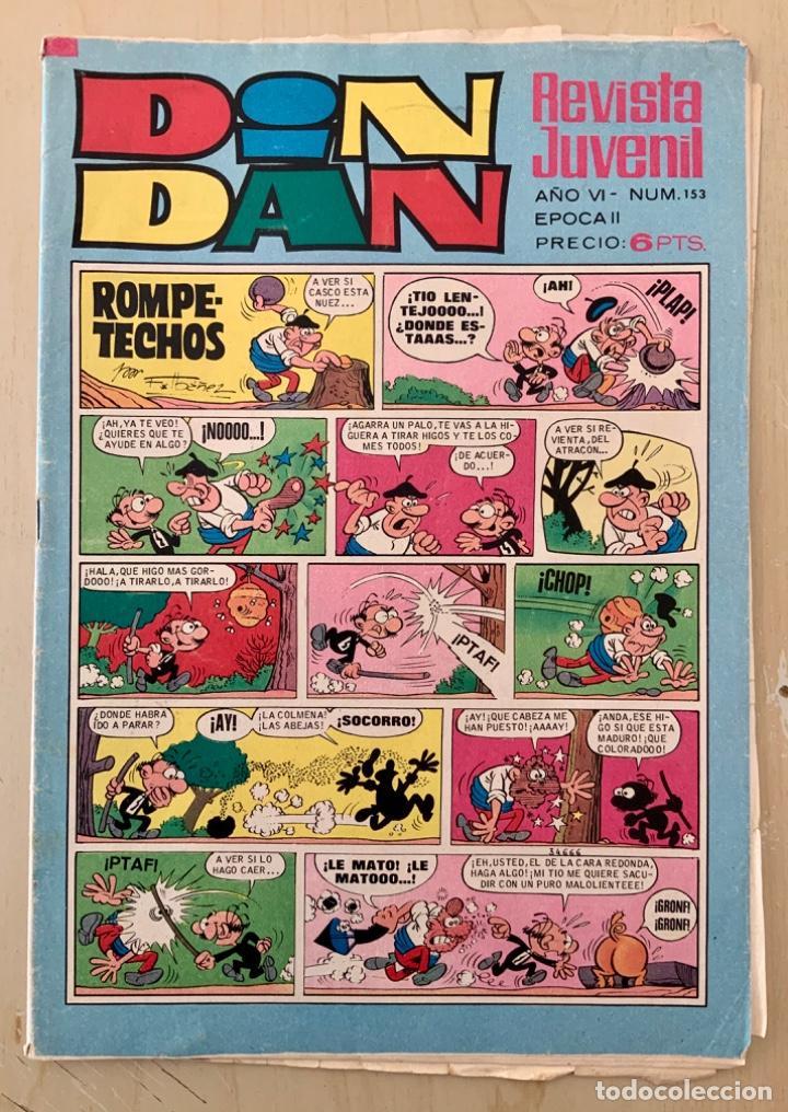 CÓMIC TEBEO DIN DAN REVISTA SEMANAL N 153 AVENTURA EL DEMONIO DEL CARIBE AÑO 1971 (Tebeos y Comics - Bruguera - Din Dan)