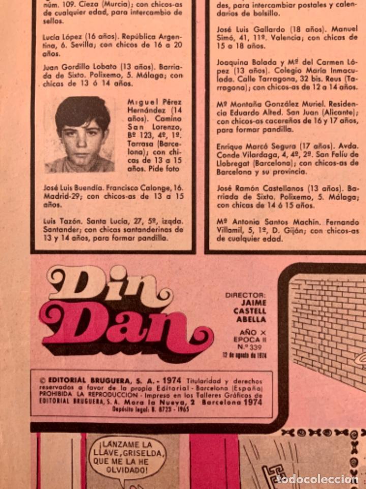Tebeos: CÓMIC TEBEO DIN DAN REVISTA SEMANAL N 339 AVENTURA BOB MORANE AÑO 1974 - Foto 5 - 203301348