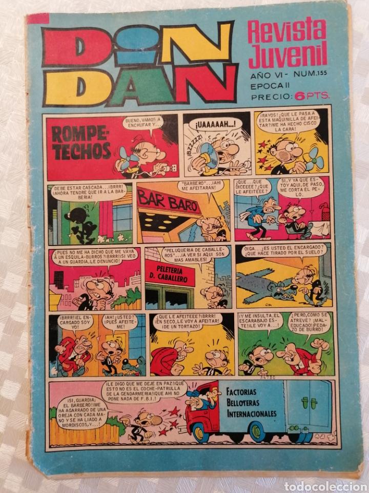 REVISTA INFANTIL Y JUVENIL DIN DAN NUM. 155 BRUGUERA 1971 (Tebeos y Comics - Bruguera - Din Dan)