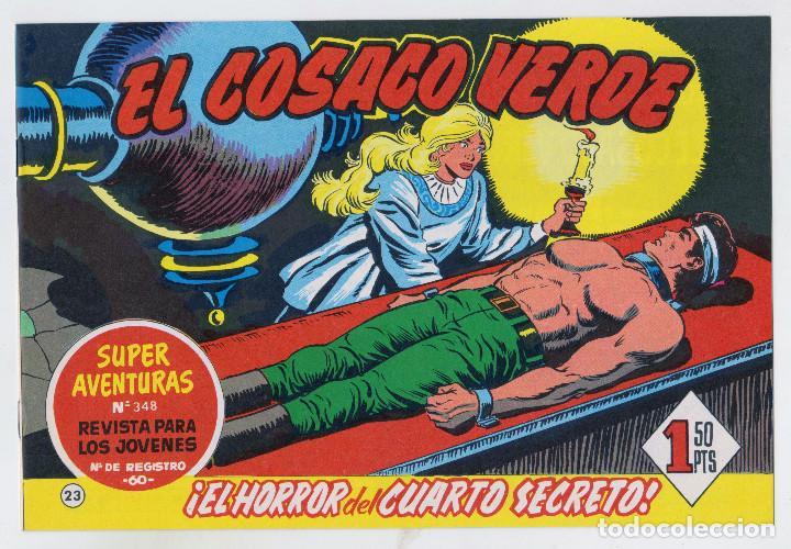 REEDICION FACSIMIL - EL COSACO VERDE - NÚMERO 23: ¡EL HORROR DEL CUARTO SECRETO! - PERFECTO ESTADO (Tebeos y Comics - Bruguera - Cosaco Verde)