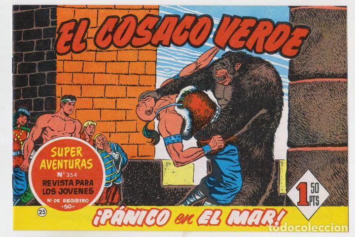 REEDICION FACSIMIL - EL COSACO VERDE - NÚMERO 25: ¡PÁNICO EN EL MAR! - PERFECTO ESTADO (Tebeos y Comics - Bruguera - Cosaco Verde)