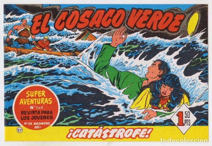 REEDICION FACSIMIL - EL COSACO VERDE - NÚMERO 27: ¡CATÁSTROFE! - PERFECTO ESTADO (Tebeos y Comics - Bruguera - Cosaco Verde)