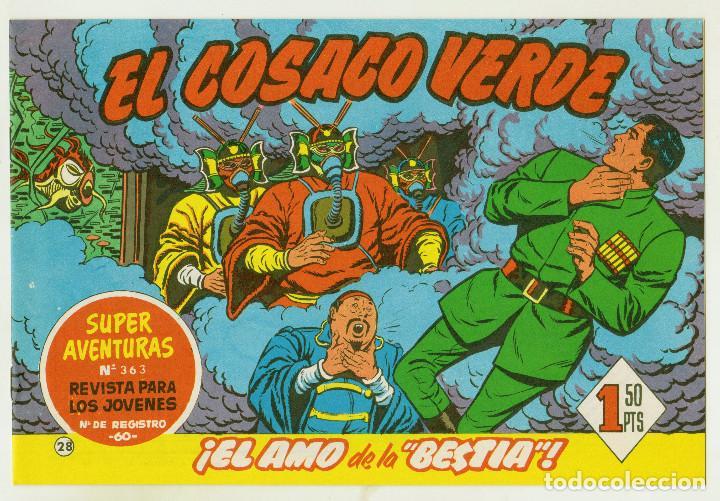 REEDICION FACSIMIL - EL COSACO VERDE - NÚMERO 28: ¡EL AMO DE LA BESTIA! - PERFECTO ESTADO (Tebeos y Comics - Bruguera - Cosaco Verde)