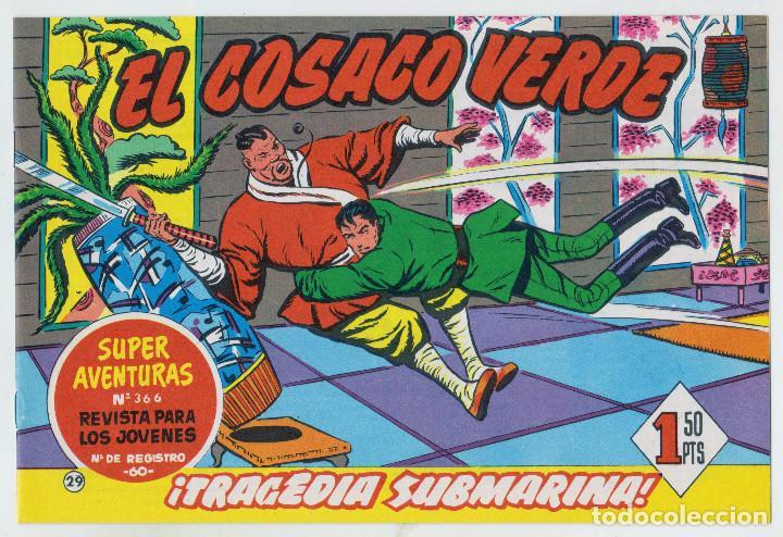 REEDICION FACSIMIL - EL COSACO VERDE - NÚMERO 29: ¡TRAGEDIA SUBMARINA! - PERFECTO ESTADO (Tebeos y Comics - Bruguera - Cosaco Verde)