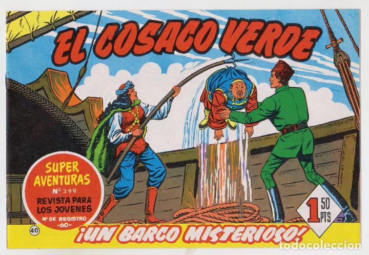 REEDICION FACSIMIL - EL COSACO VERDE - NÚMERO 40: ¡UN BARCO MISTERIOSO! - PERFECTO ESTADO (Tebeos y Comics - Bruguera - Cosaco Verde)
